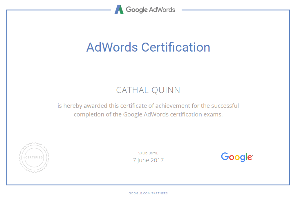 Google Adwords Cerfitied PPC Consultant and PPC Agency Mayo & Dublin